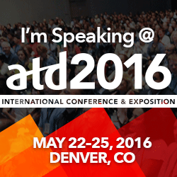 I'm Speaking @ ATD ICE 2016