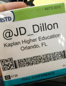 JD Badge - ASTD 2013