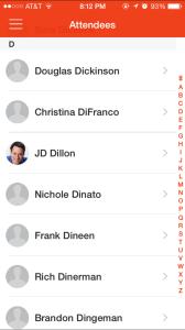 Devlearn App - Attendees