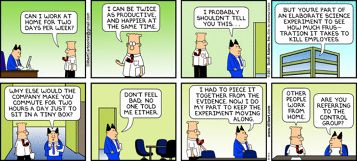 Dilbert - Working from Home