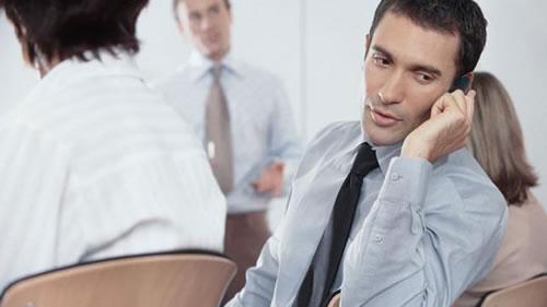 Smartphone Meeting Distraction
