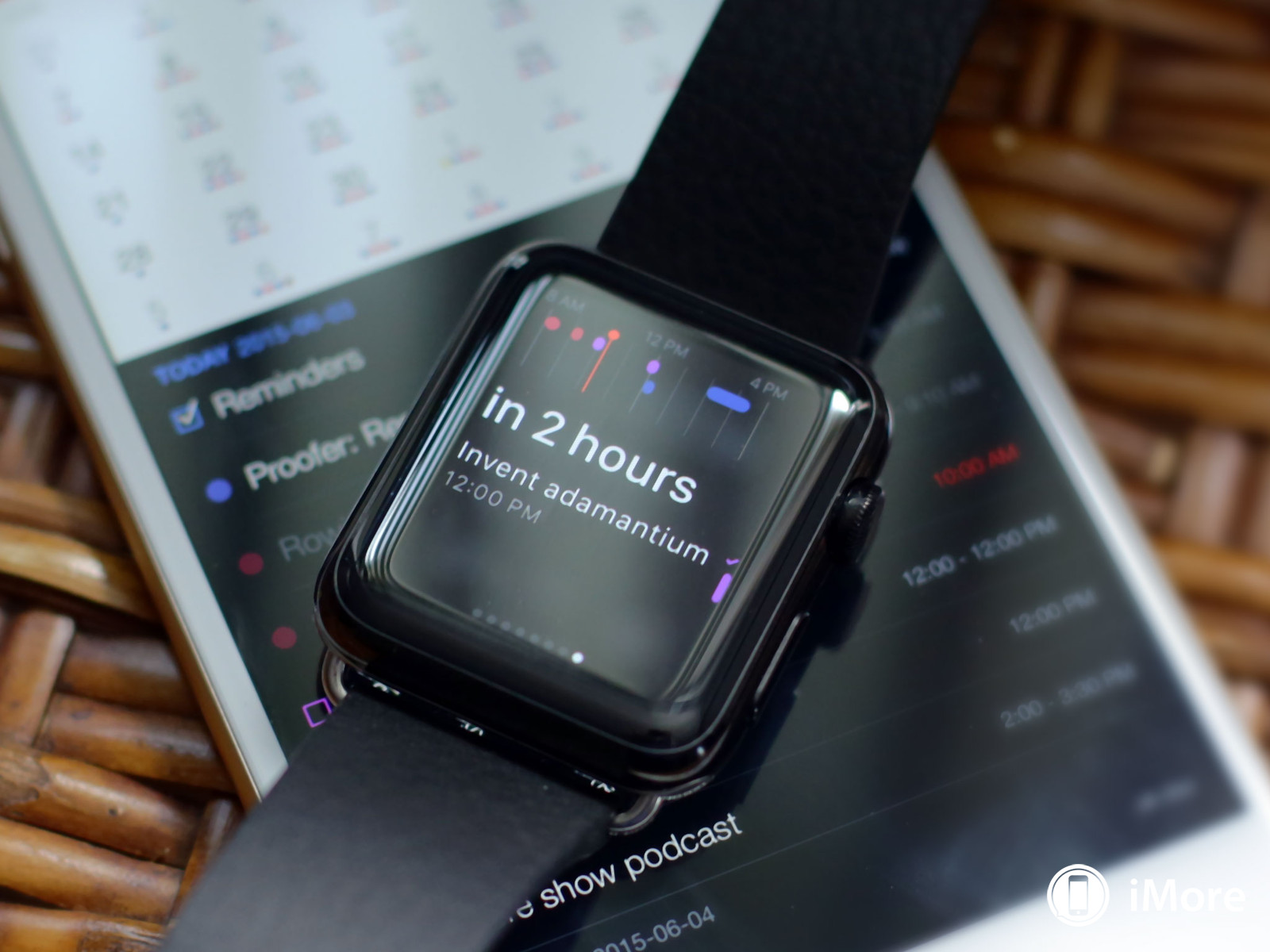 Apple Watch meeting reminder