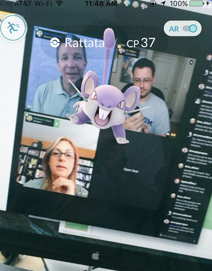 Blab screenshot with Pokemon GO character