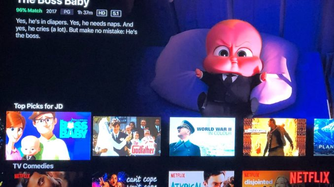 Boss Baby recommendation on Netflix