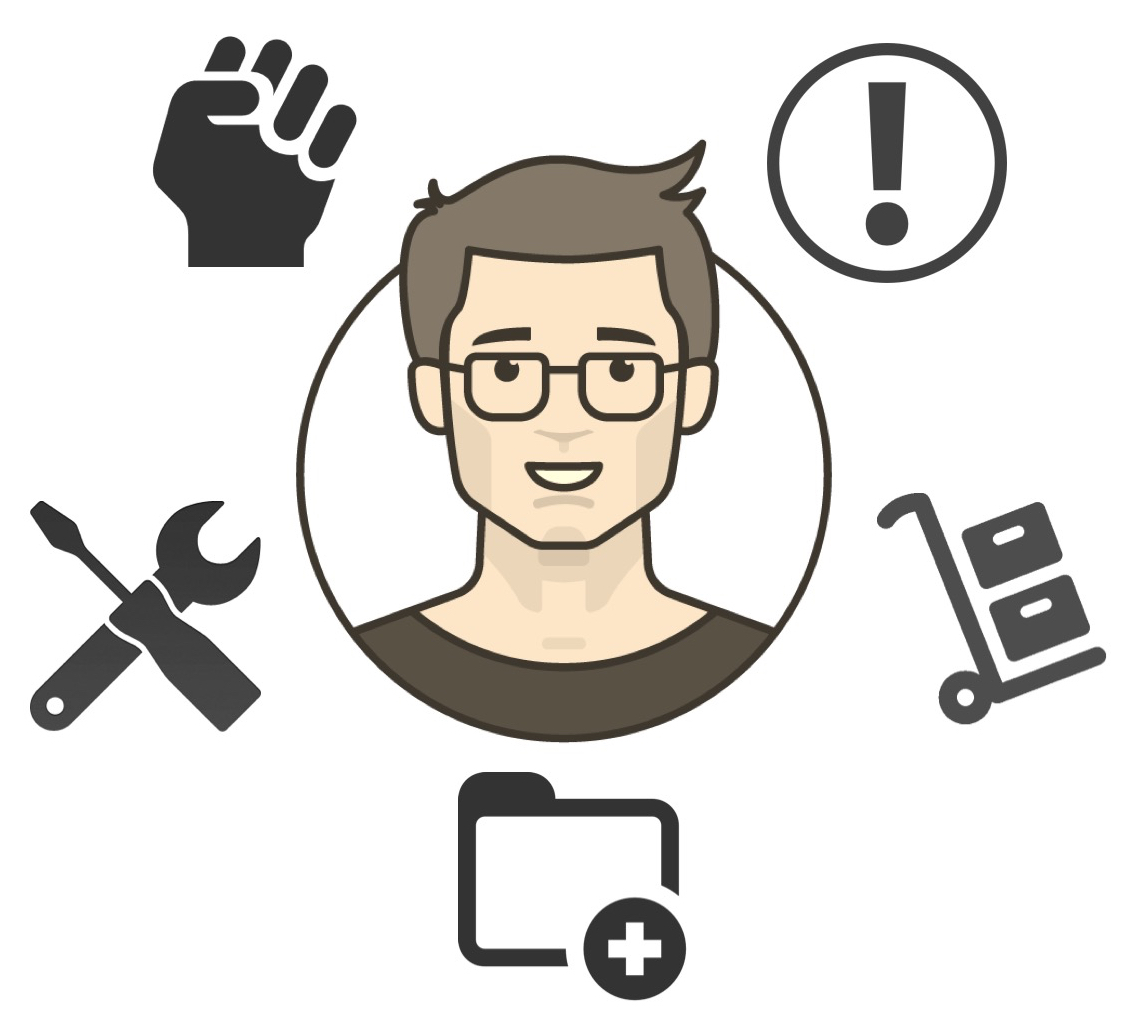 Ecosystem assessment icons surrounding the user