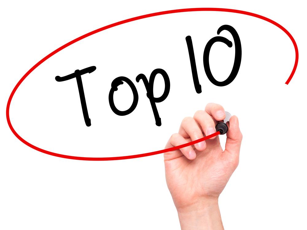 Hand writing Top 10