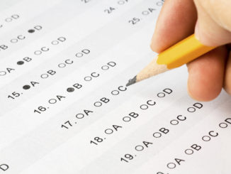 Pencil filling in multiple choice test