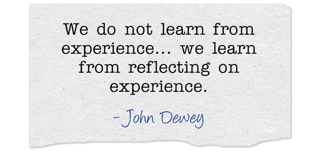 Quote on reflection in learning