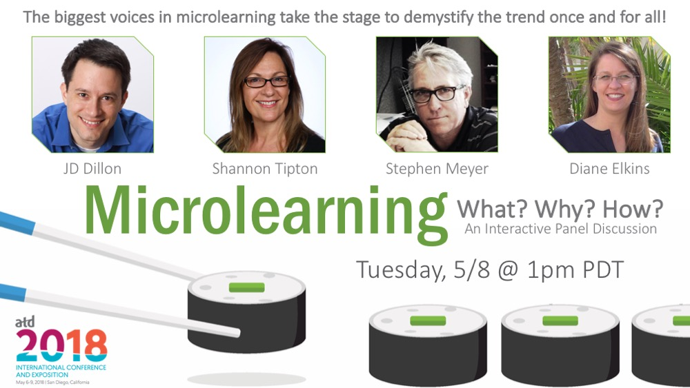 Promotional image for ATD 2018 microlearning panel