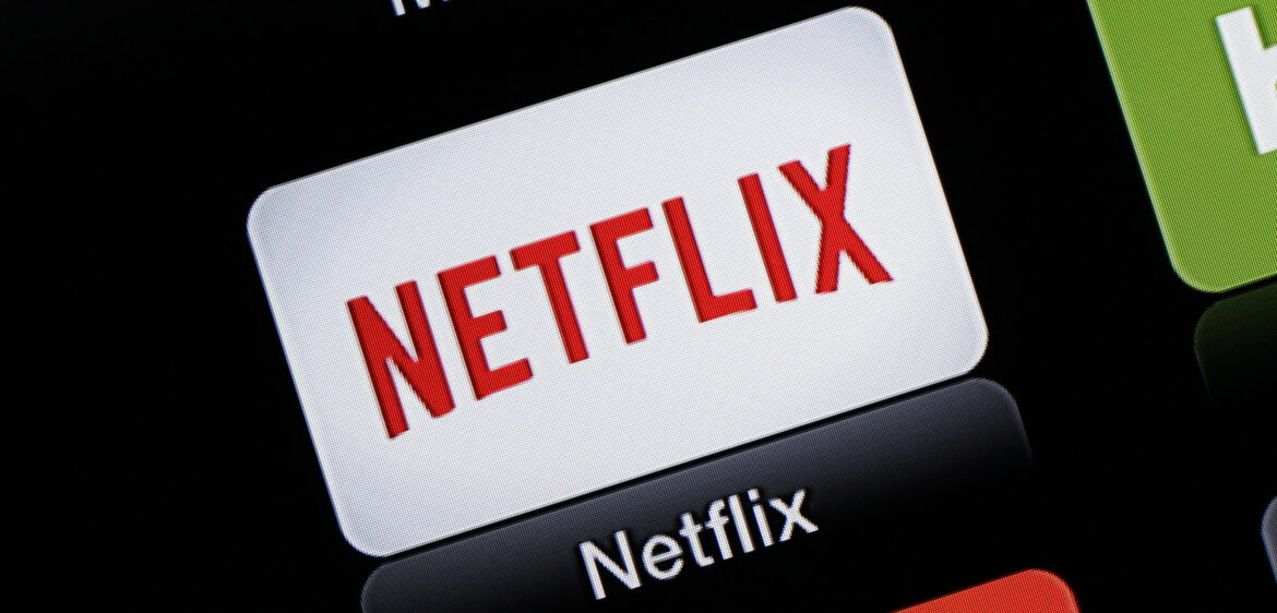 Netflix app icon on a mobile device