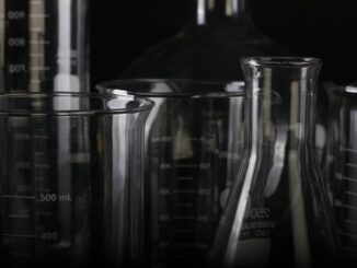 Empty chemistry beakers