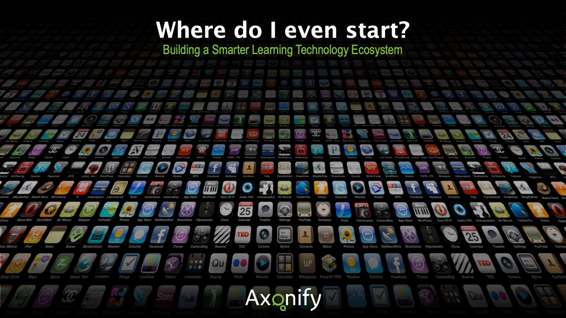 Where Do I Even Start? Building a Smarter Learning Technology Ecosystem